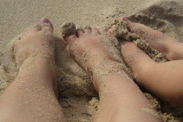 Barefoot Nomads on the Beach in Cozumel, Mexico