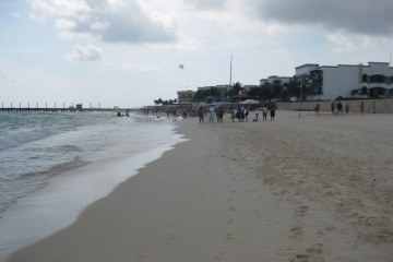 Mamitas Beach Playa del Carmen Looking at the Pier