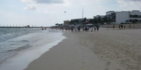 Mamitas Beach Playa del Carmen Looking at the Pier