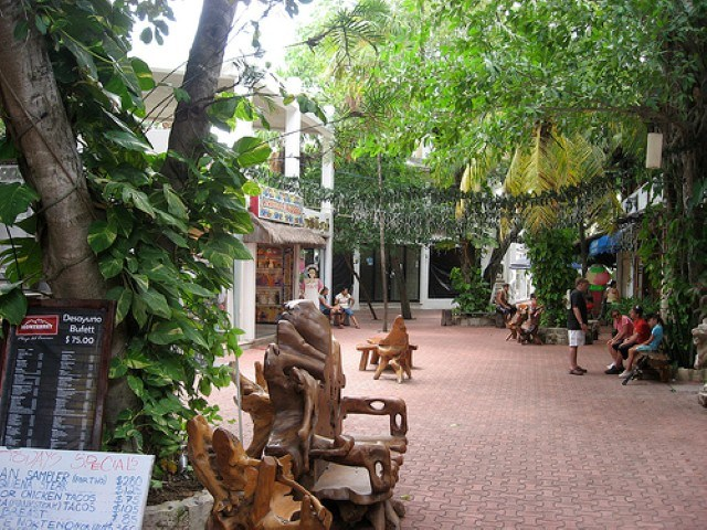 Side Street off 5th Avenue Playa del Carmen