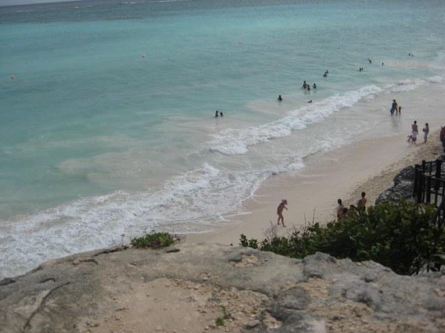 Beach at Mayan Ruins in Tulum