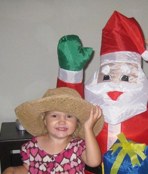 Santa in Playa at Christmas