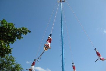 Myan Pole Flyers Tulum Mexico (Small)