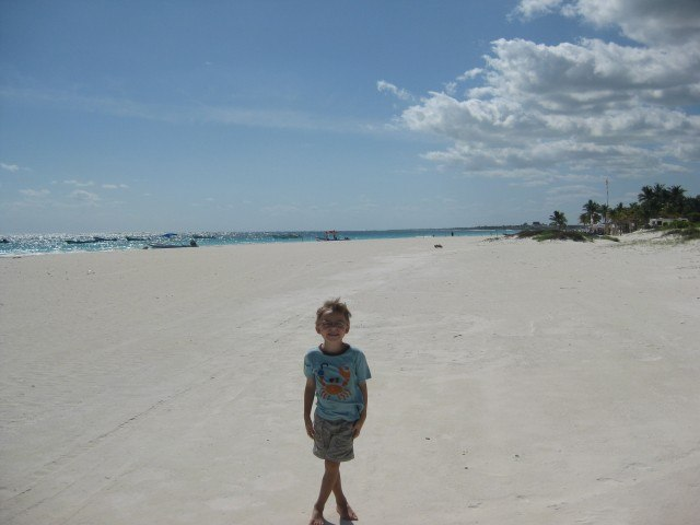 Endless White Sand Beach at Tulum