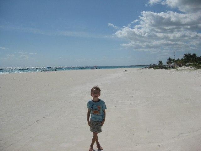 Endless White Sand Beach at Tulum