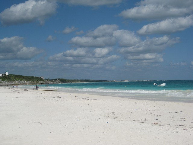 The White Sand Beach at Tulum, Mexico, Yucatan