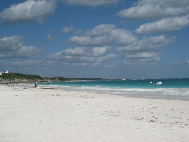 The White Sand Beach at Tulum, Mexico, Yucatan