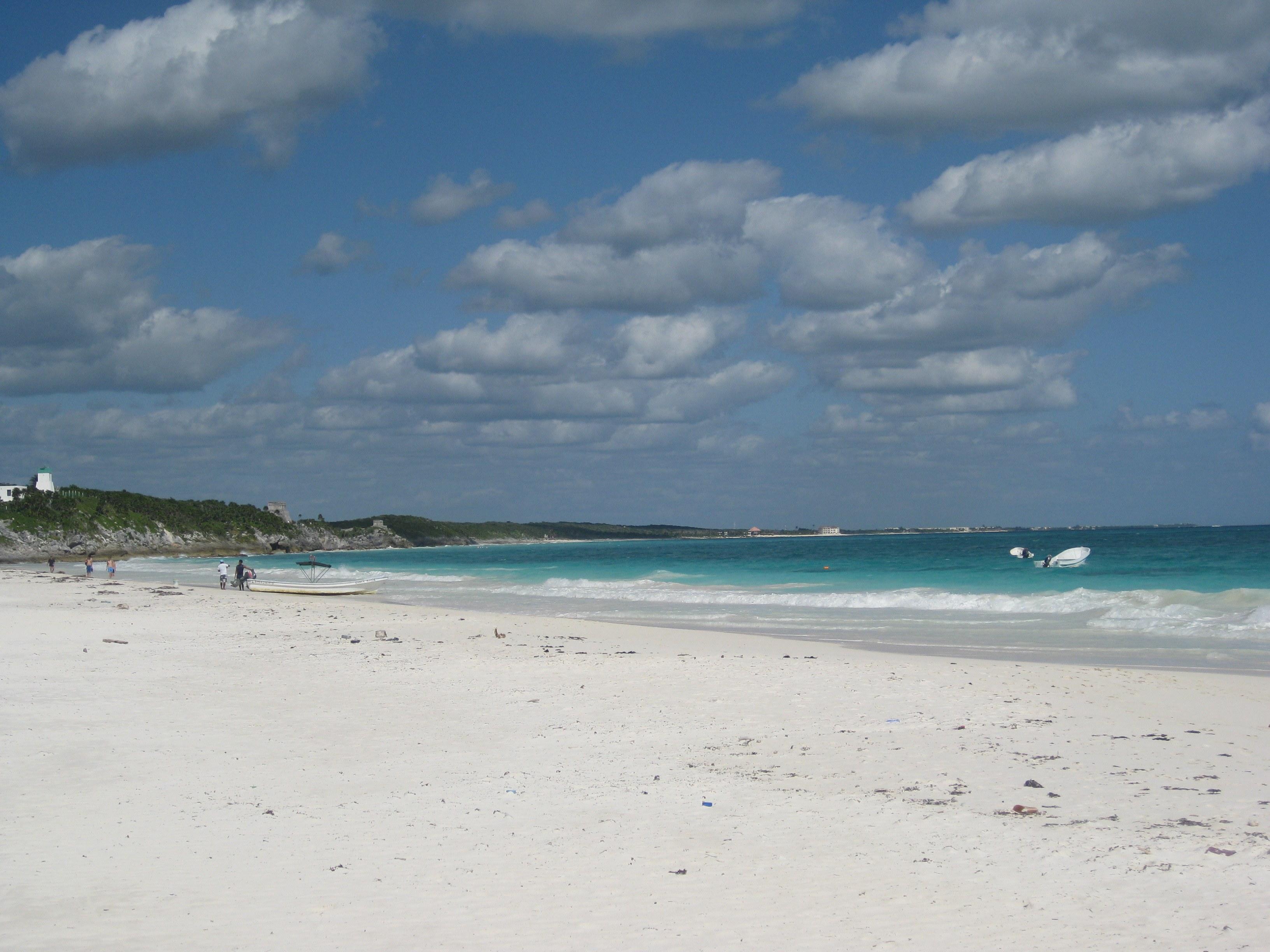 The White Sand at Tulum Beach, Mexico, Yucatan