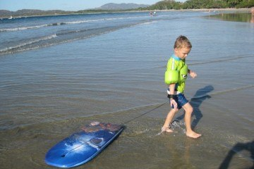 Boogie Boarding at Langosta Beach Costa Rica