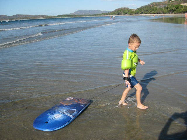 Boogie Boarding at Langosta Beach Costa Rica