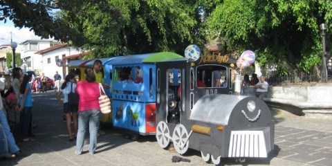 Kids' Train at Central Park in Heridia Costa Rica