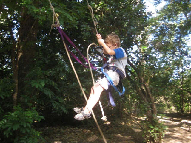 Lovin' the Tarzan Swing at New Monkey Jungle Guanacaste