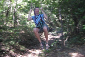 Tarzan Swing at New Monkey Jungle Ziplining Tamarindo
