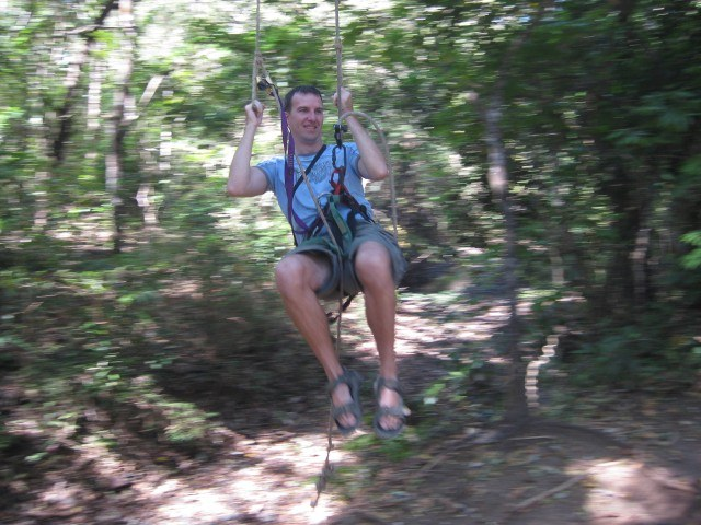 Tarzan Swing at New Monkey Jungle Ziplining Tamarindo