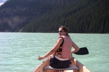 In a Canoe on Lake Louise, Canada