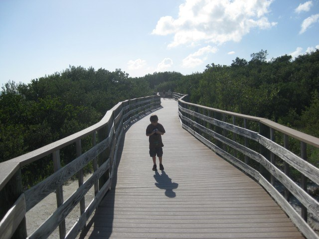 Boardwalk near Caloosa Cove in the Florida Keys (A Long Run)