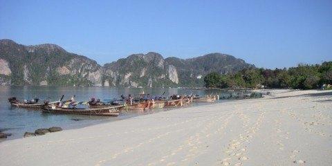 Shoulder Season on Long Beach Ko Phi Phi Thailand
