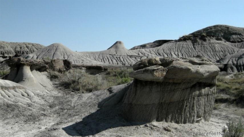 Badlands Squat Hoodoo Dinosaur Provincial Park