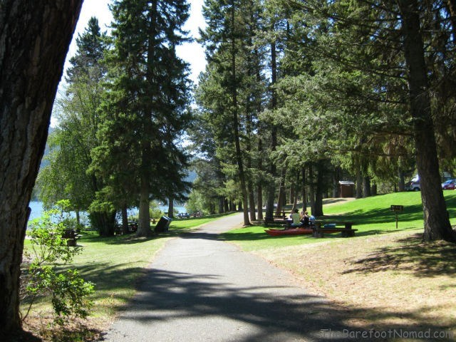 Campground at Paul Lake British Columbia