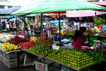 Fruit at Street Market in Thailand 640