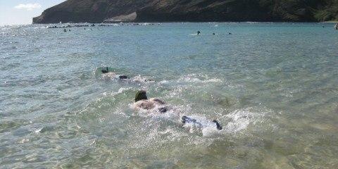 Snorkelling at Hanauma Bay, Hawaii