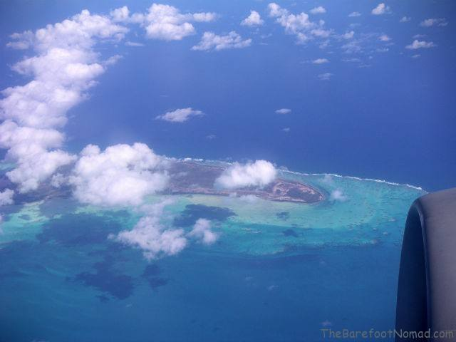 View of St Martin from the Airplane St Martaan