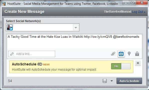 HootSuite Hootlet Autosheduler