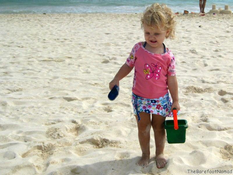 Fun on Mamitas Beach Playa del Carmen kids activities