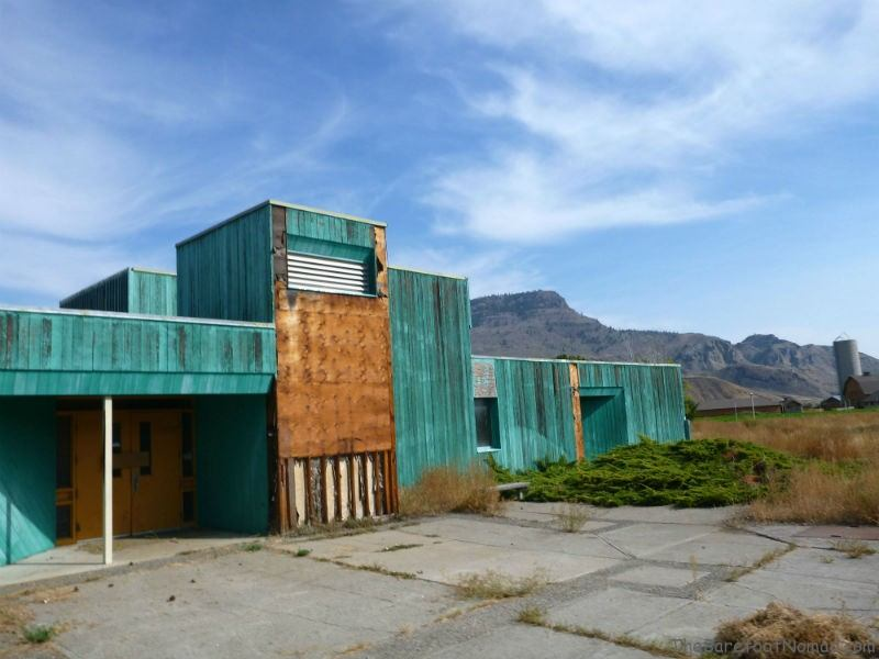 Elementary school and restored barns in Tranquille Kamloops Padova City