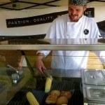 Chef Colin of Edesia Grilling Farm Fresh Corn Tranquille Farm Fresh