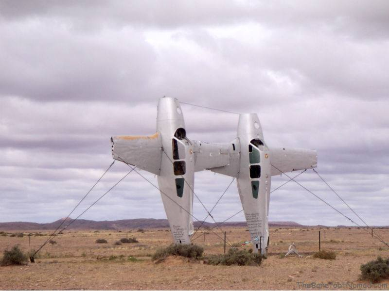 Sculpture in the middle of the Oodnadatta in Australia's Outback