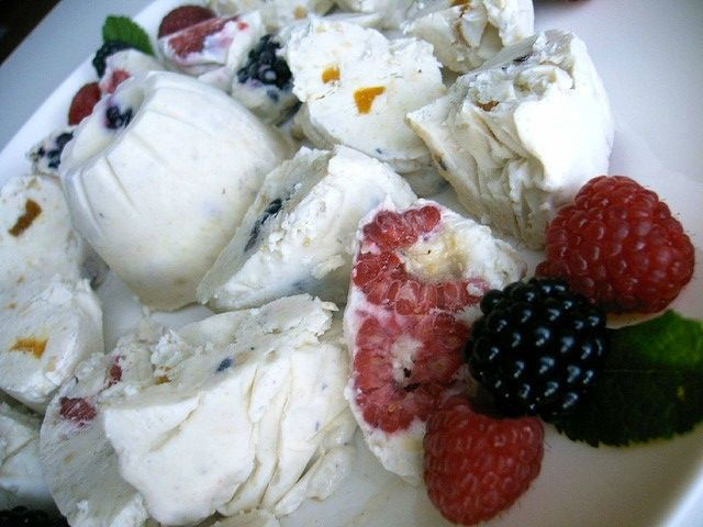 Dondurma Turkish Ice Cream with Raspberries and Berries