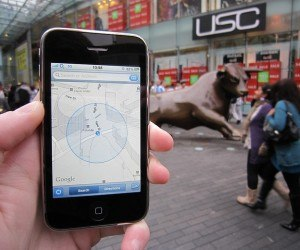 Smartphone using gps geotagging