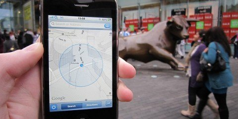 Smartphone using gps geotagging