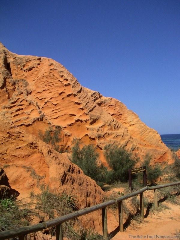 Cathedral Cliffs Fraser Island Australia