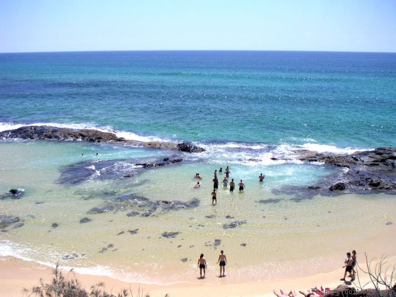 Champagne Pools at Fraser Island Australia