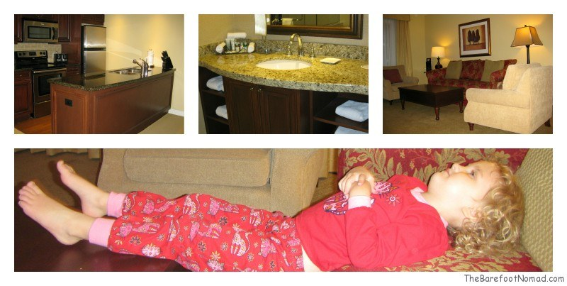 Relaxing at Delta Sun Peaks Residences Condo
