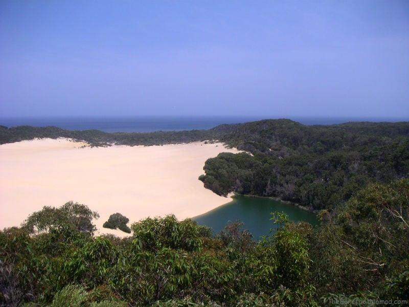 Lake Wabby on Fraser Island Australia