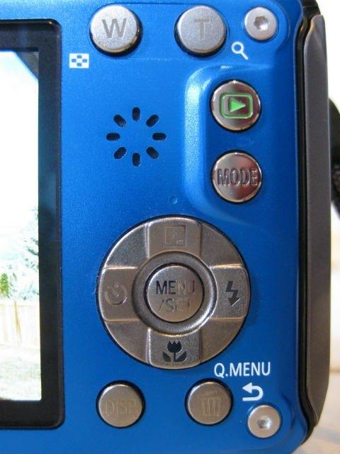 Controls on back of Panasonic Lumix DMC TS4