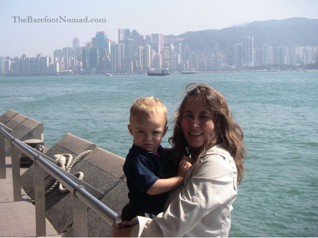 MK And The Little Man Hong Kong Harbor