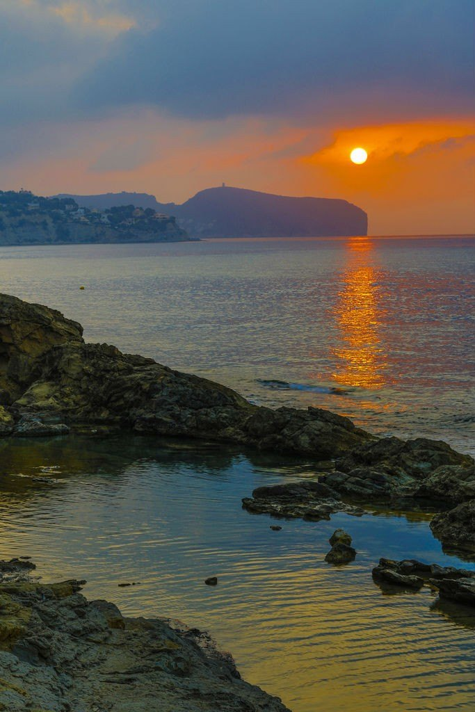 Sunset at Costa Blanca Spain