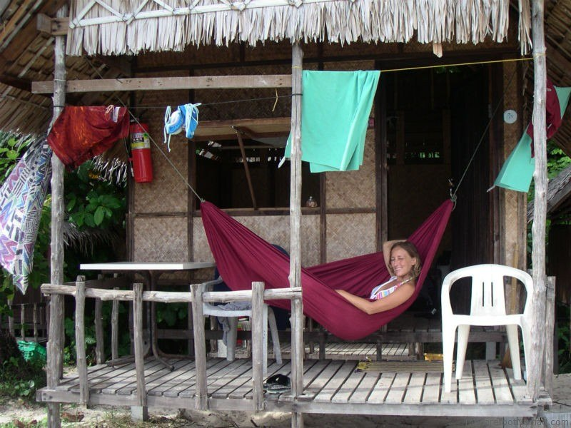 Micki in a Hammock in Ko Lanta Thailand