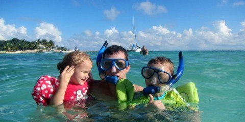Snorkelers in Akumal Mexcio
