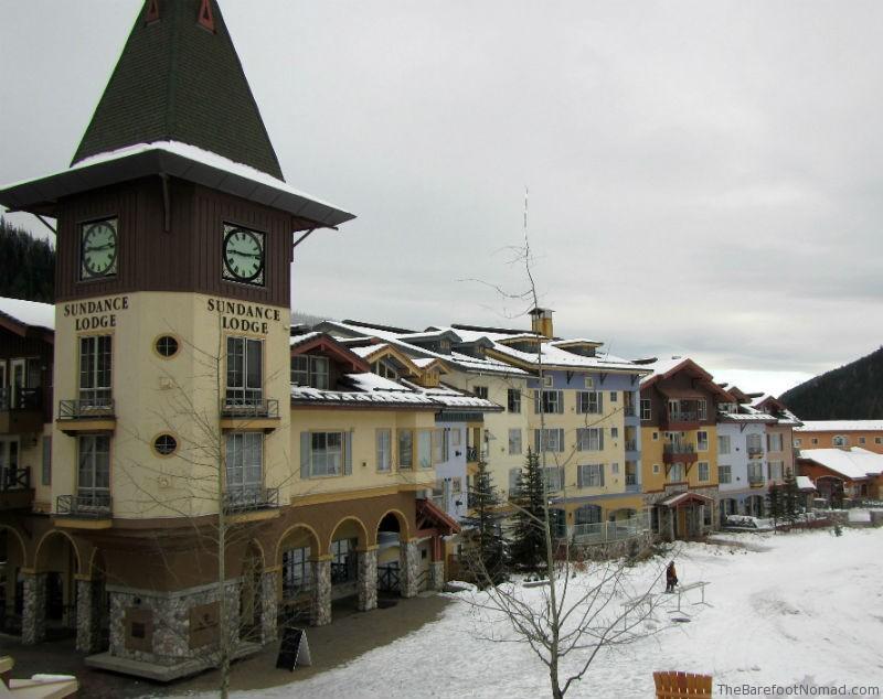Sun Peaks Village facing the ski hill