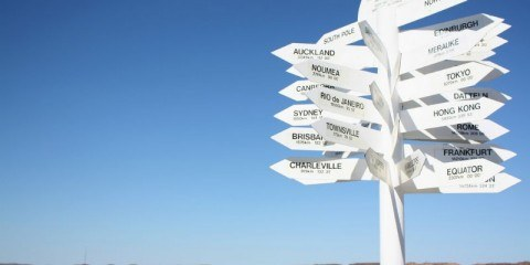 Travel Paralysis Signpost Directions