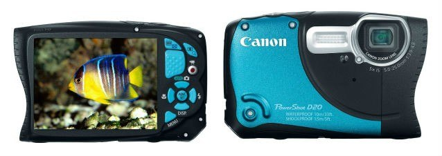 Canon D20 Front and Back view