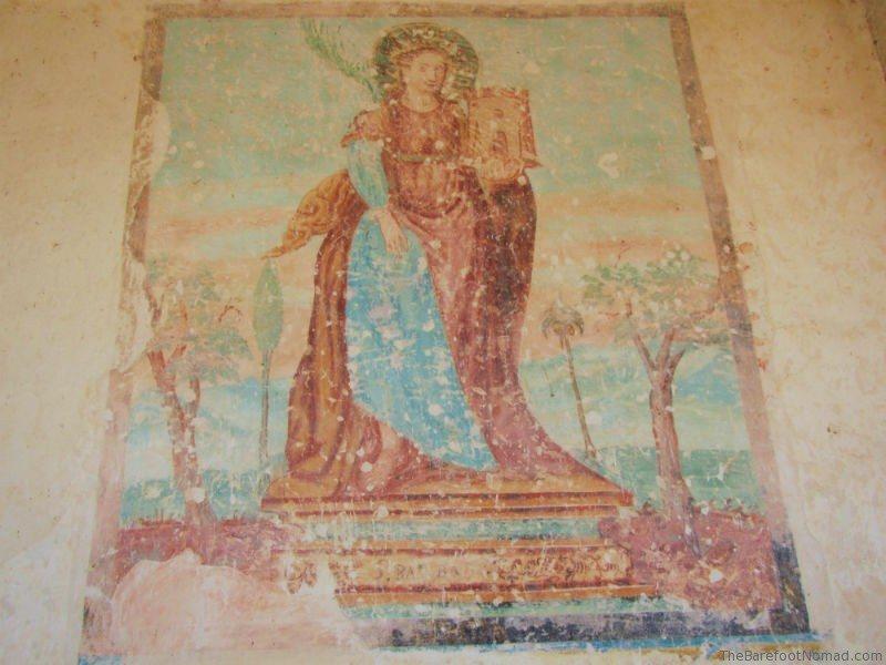 16th century fresco San Antonio de Padula painting