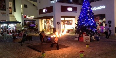 Fire Dancers on 5th Ave, Playa del Carmen