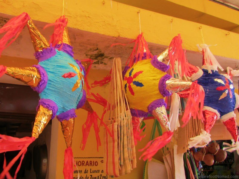 Izamal Mexico Pinatas at Market