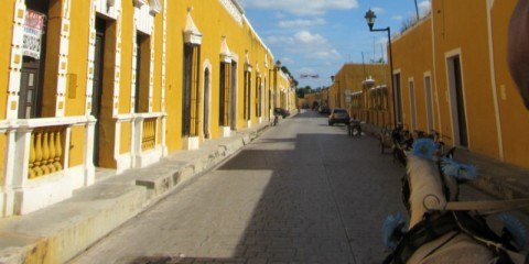 Izamal Yellow City by Calesa Colonial houses